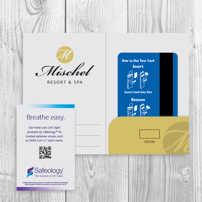 Marketing support key card inserts virus free spaces