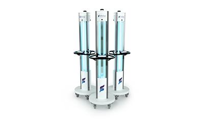 Safeology UVC Tower Elite Trio Image - Rep Portal and Media Resource Image