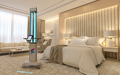 Safeology UVC Tower Elite in Healthcare - Rep Portal and Media Resource Image